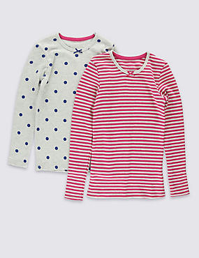 2 Pack Long Sleeve Thermal Tops (18 Months - 16 Years)