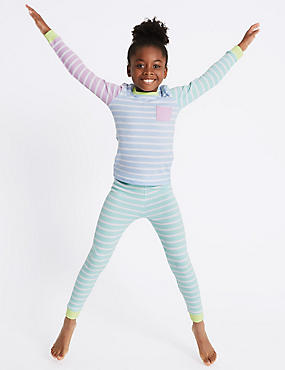 Cotton Blend Striped Thermal Set (18 Months - 16 Years)