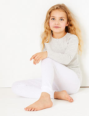 Cotton Blend Cuffed Hem Leggings (18 Months - 16 Years)
