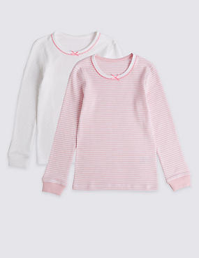 2 Pack Thermal Vests (18 Months - 16 Years), LIGHT PINK MIX, catlanding