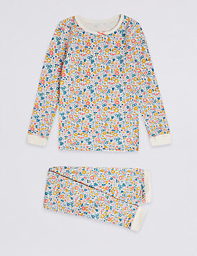 Floral Print Thermal Set (18 Months - 16 Years), ANTIQUE GOLD, catlanding