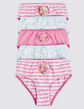 5 Pack Pure Cotton Disney Frozen Briefs (18 Months - 7 Years)
