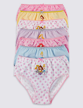 7 Pack Disney Princess Briefs (1-7 Years)