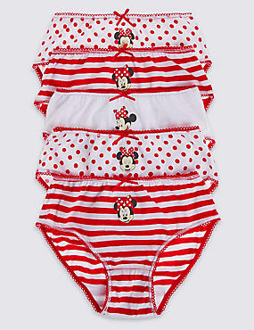 5 Pack Minnie Mouse Briefs (18 Months - 7 Years)