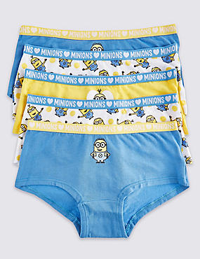 5 Pack Despicable Me™ Minions Cotton Shorts with Stretch (6-16 years)