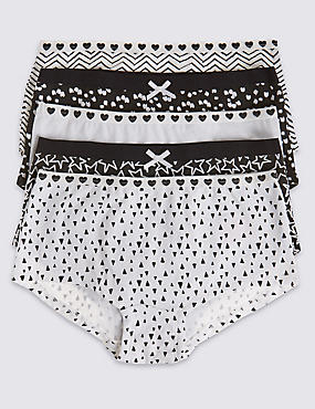 5 Pack Cotton Rich Monochrome Shorts (6-16 Years)