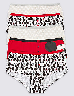 5 Pack Cotton Rich Mickey Mouse Print Shorts (2-16 Years)