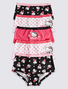 5 Pack Cotton Rich Hello Kitty Shorts (2-16 Years)