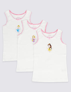 3 Pack Disney Princess Vests (2-7 Years)