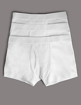 3 Pack Pure Cotton Superfine Trunks (18 Months - 16 Years)