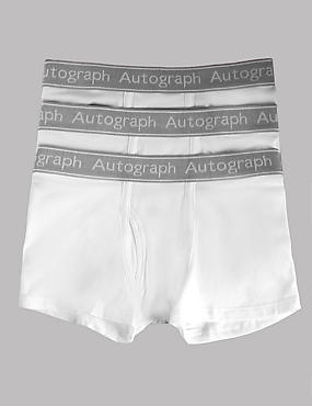Cotton Trunks with Stretch (4-16 Years), WHITE, catlanding