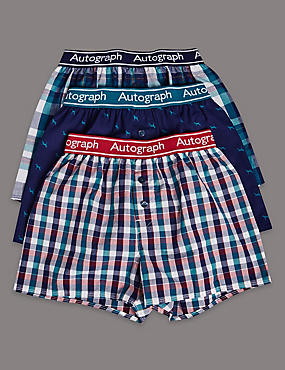 3 Pack Pure Cotton Trunks (6-16 Years)