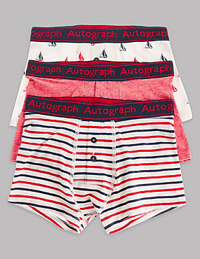 3 Pack Cotton Rich Trunks (6-16 Years)