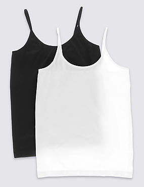 2 Pack Seamfree Camisole Vests (1-16 Years)