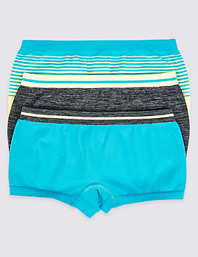 3 Pack Seamfree Assorted Shorts (6-16 Years)