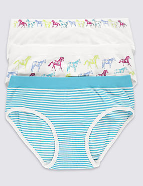 3 Pack Santoni Seamfree Bikini Knickers (6-16 Years)