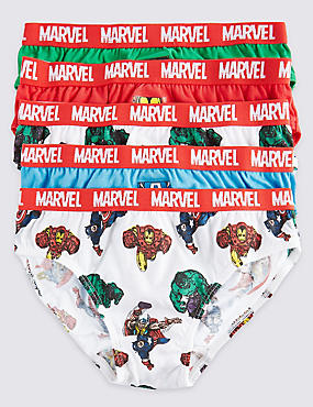 5 Pack Pure Cotton Marvel Briefs (18 Months - 8 Years)