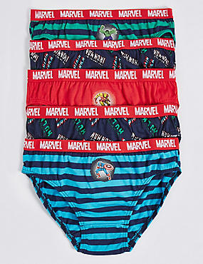5 Pack Pure Cotton Marvel™ Briefs (18 Months - 8 Years)