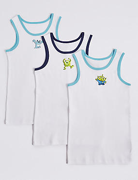 Pure Cotton Disney Characters™ Vests (18 Months - 8 Years)