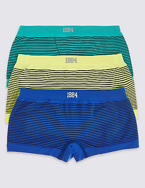 3 Pack Striped Seamfree Shorts (6-16 Years)