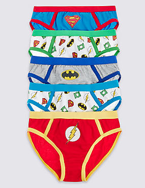 5 Pack Pure Cotton Superheroes Briefs (1-7 Years)