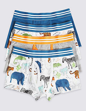 4 Pack Cotton Rich Trunks (2-8 Years)