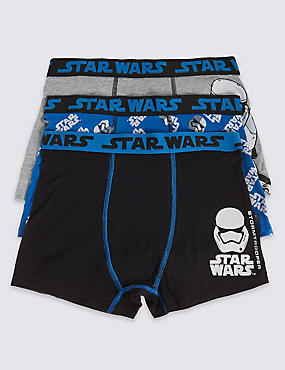 3 Pack Cotton Rich Star Wars™ Trunks (3-16 Years)