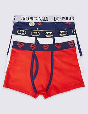 3 Pack Superheroes Trunks (2-16 Years)