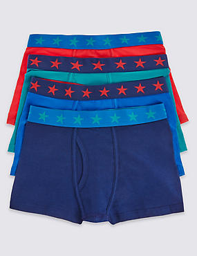 4 Pack Star Waist Band Trunks (2-16 Years)