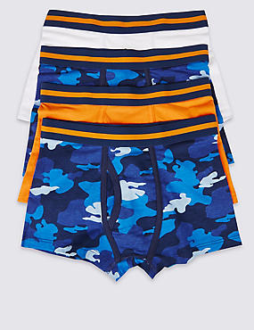 4 Pack Camouflage Trunks (2-16 Years)