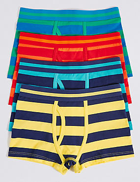 Striped Cotton Trunks with Stretch (2-16 Years)