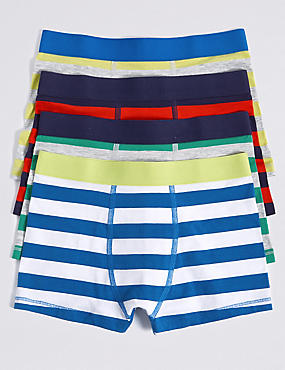 Cotton Striped Trunks with Stretch (18 Months - 16 Years), BRIGHTS, catlanding