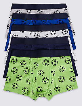 5 Pack Trunks with Stretch (18 Months - 16 Years), LIME GREEN, catlanding