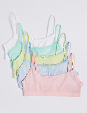 5 Pack Cotton Rich Assorted Crop Tops (6-16 Years)