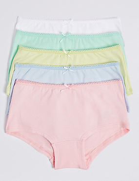 5 Pack Cotton Rich Assorted Shorts (6-16 Years)