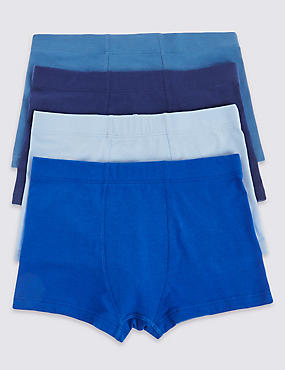 4 Pack Cotton Rich Assorted Trunks (1-16 Years)