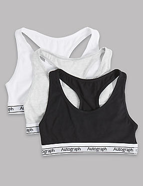 Cotton Crop Tops with Lycra (6-16 Years), BLACK/WHITE, catlanding