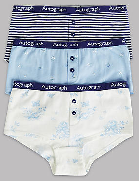 3 Pack Cotton Shorts with Stretch (6-16 Years)