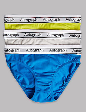 3 Pack Cotton Briefs with Stretch (6-16 Years)