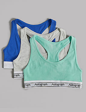 Cotton Crop Tops with Stretch (6-16 Years), BLUE MIX, catlanding