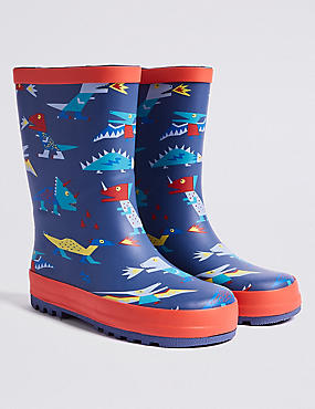Kids' Dinosaurs Wellies (5 Small - 12 Small) , MULTI, catlanding