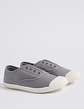 Kids' Canvas Laceless Fashion Trainers