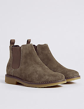 Kids' Suede Chelsea Boots