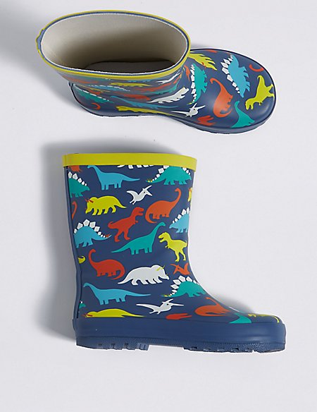 Kids' Dinosaur Print Wellies (5 Small - 12 Small)