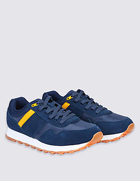 Kids' Lace-up Retro Trainers