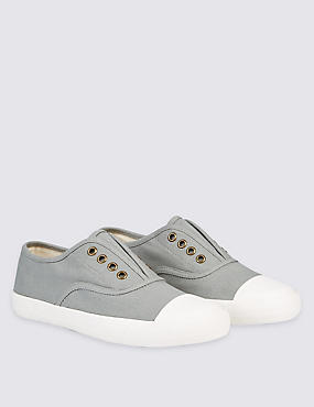 Kids' Canvas Slip-on Trainers