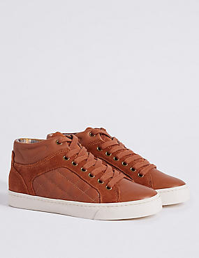 Kids' Leather Fashion Trainers