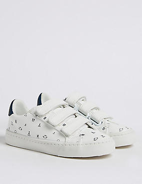 Kids' Embroidered Fashion Trainers (5 Small - 12 Small), MULTI, catlanding