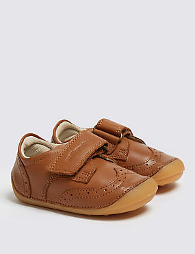 Kids' Leather Brogues Shoes (2 Small - 5 Small), BROWN, catlanding