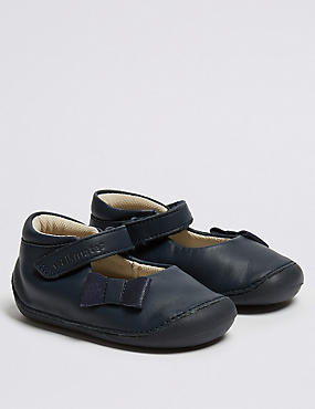 Kids' Walkmates™ Leather Shoes (2 Small - 5 Small), NAVY, catlanding